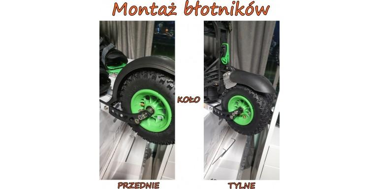 Montaż błotników na przednim i tylnym kole - SKIKE V9